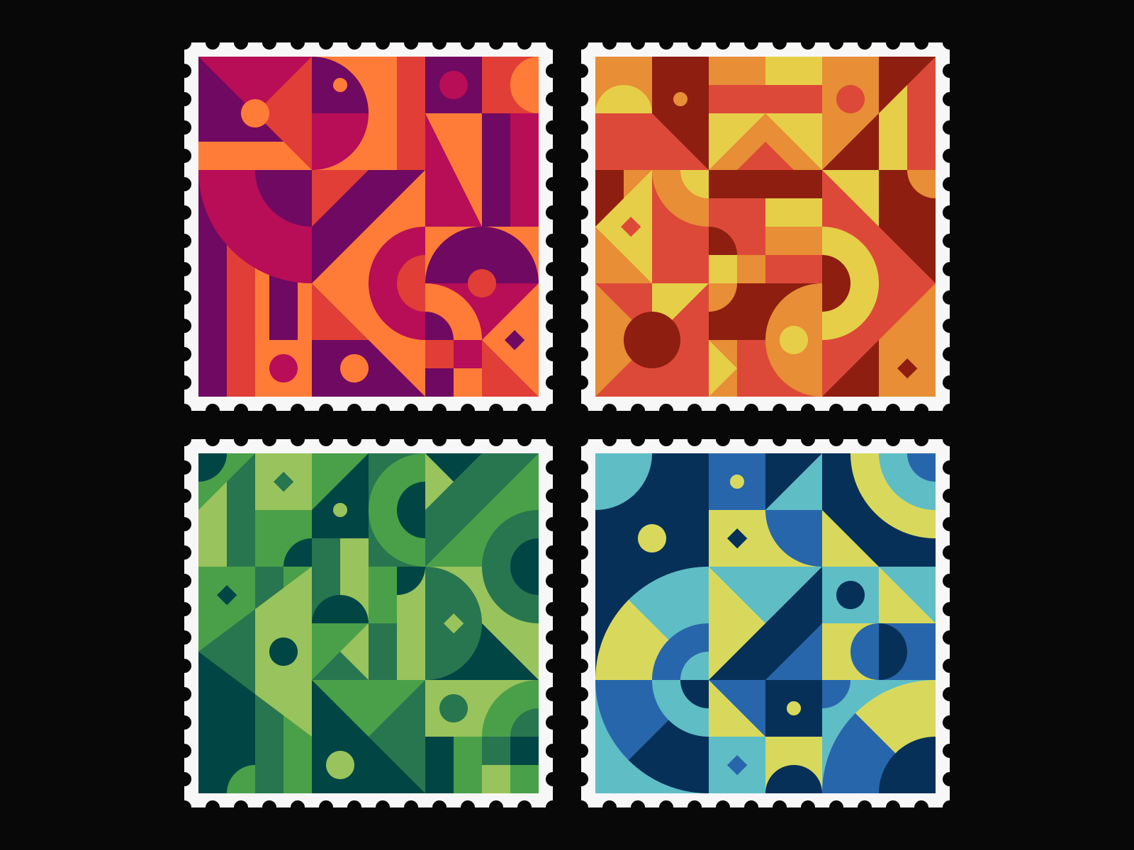 Geometric Stamps