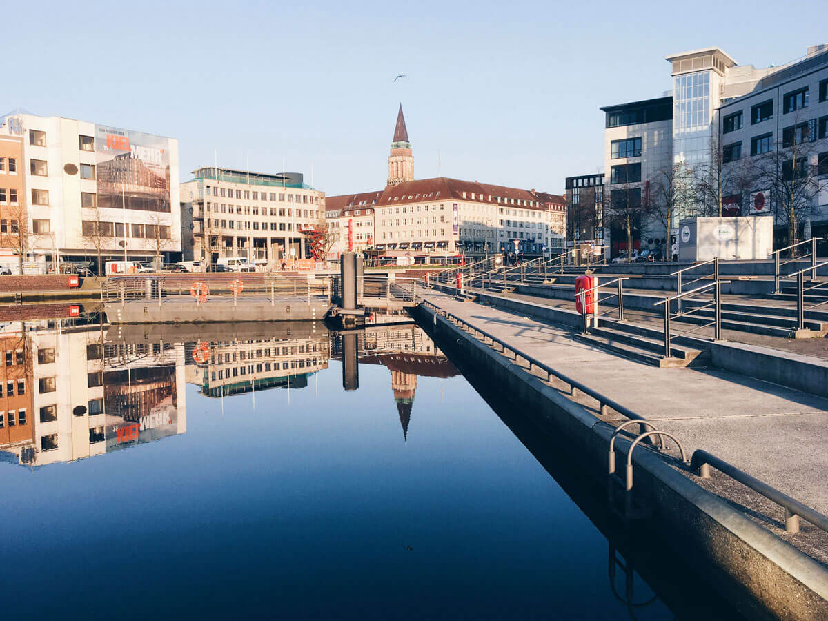 Reflections at the Bootshafen in Kiel